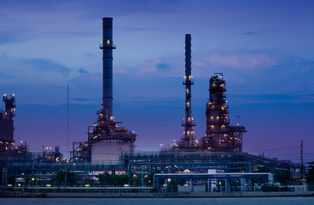 Oil refinery industrial plant photo