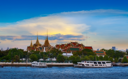 The Grand Palace   The Emerald Buddha Temple, Bangkok, Thailand  landmark of Bangkok, Thailand  Stock Photo