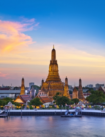 thailand view: Wat Arun, Landmark and No. 1 tourist attractions in Thailand