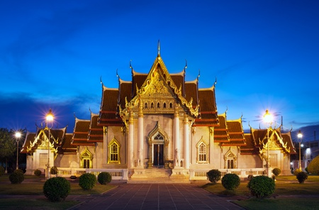 Wat Benchamabophit Dusitvanaram is a Buddhist temple  wat  in Bangkok, Thailand  Also known as the marble temple, it is one of Bangkok s most beautiful temples and a major tourist attraction   photo
