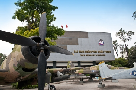 remnants: Aircraft on War Remnants Museum in Ho Chi Minh City  Saigon , Vietnam  Editorial