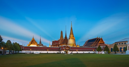 The Grand Palace & Wat Phra Kaew (The Emerald Buddha Temple), Bangkok, Thailand. No. 1 tourist attractions in Thailand photo