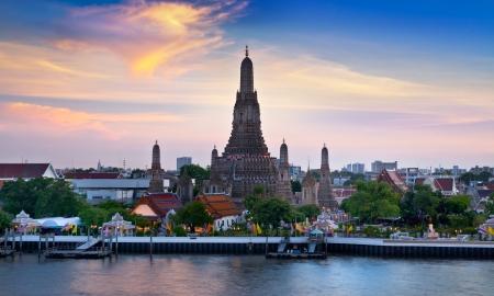 Wat Arun, Landmark and No. 1 tourist attractions in Thailand.