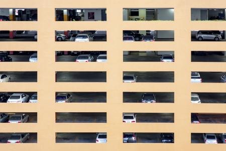 parking lot interior: Public car park at Bangkok, Thailand