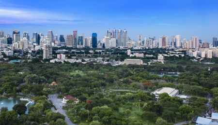 lumpini: Modern city in a green environment,Suan Lum,Bangkok,Thailand. Suan Lum Lumpini Park is green space in Bangkok, Thailand.