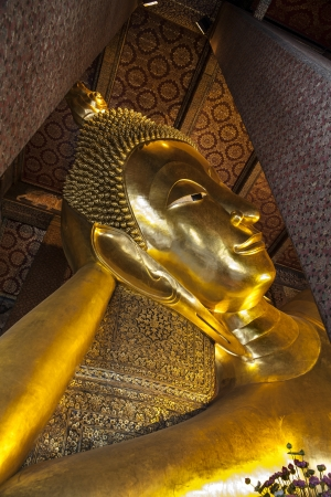 Temple of the Reclining Buddha  Wat Pho , Landmark and No  1 tourist attractions in Thailand  Wat Pho or Wat Phra Chettuphon Wimon Mangkhlaram  photo