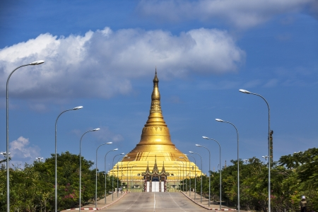 myanmar: Uppatasanti pagoda in Naypyidaw city (Nay Pyi Taw), capital city of Myanmar. This is biggest pagoda and no. 1 tourist attractions in Naypyidaw.