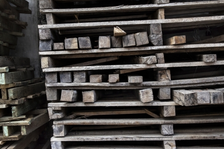 sawed: Pile of wood. Pile of construction woods, natural wooden brown.