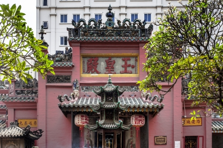 The Jade Emperor Pagoda  Luck Sea Temple, Tortoise Pagoda  is a Taoist Pagoda located at 73 Mai Thi Luu Street, Ho Chi Minh City, Vietnam  It was built by the Chinese community in 1909