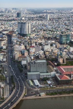 Ville moderne urbain, Ho Chi Minh-Ville, Vietnam Ho Chi Minh-Ville Saigon est la plus grande ville au Vietnam
