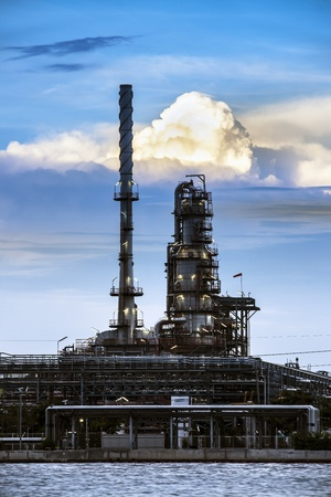 naphtha: Refinery industrial plant in Bangkok Thailand  Oil refinery industrial plant