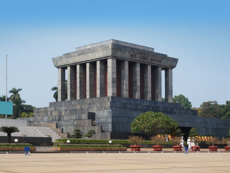 ba: Ho Chi Minh Mausoleum in Hanoi, Vietnam  The Ho Chi Minh Mausoleum is a large memorial in Hanoi, Vietnam  It is located in the centre of Ba Dinh Square, which is the place where Vietminh leader Ho Chi Minh read the Declaration of Independence on September