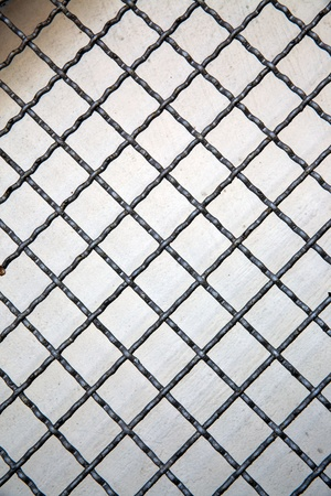Grid line of metal fence pattern, Background, Abstract or Texture  photo