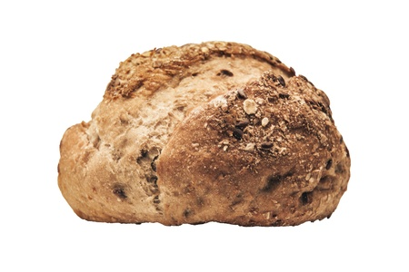 Fresh bread isolated with clipping paths on white background  photo