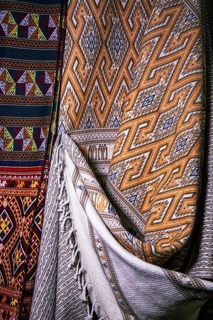 Handmade Thai Silk   Fabric Background, Abstract, Texture  Thai silk is famous for its special qualities produced, bearing unique patterns and colors Stock Photo - 21429757