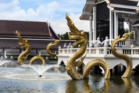 jainism: Gold Naga  Dragon, great naga, king of naga, very great snake  with fountain -Naga is the Sanskrit and Pali word for a deity or class of entity or being, found in Hinduism, Buddhism and Jainism