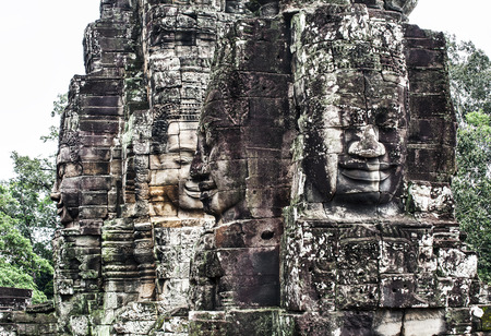 thom:  Serenity of faces  Bayon, Angkor, Cambodia