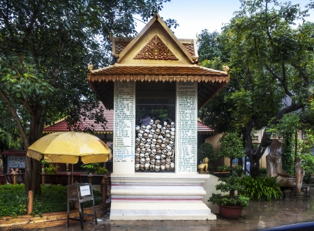 killings: Killing Field  Wat Thmey or Tep Pothivong , Siem Reap, Cambodia