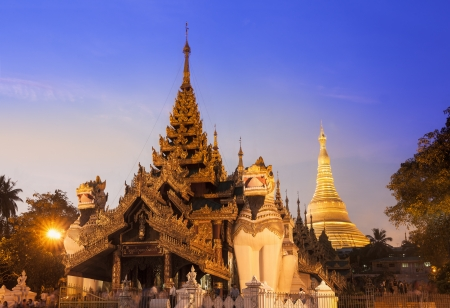 Shwedagon Pagoda in Yangon, Myanmar  Burma    The Shwedagon is The Most Important pagoda and stupa in Yangon  Rangoon , Myanmar  Burma