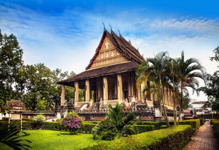 laos: Haw Phra Kaew  Emerald Buddha temple , No 1 attraction in Vientiane, Laos  Haw Phra Kaew is a former temple in Vientiane, Laos  Haw Phra Kaew was built between 1565 and 1556  Editorial