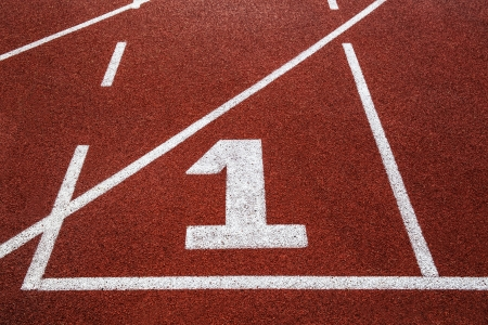 sports venue: Running track with number 1 texture