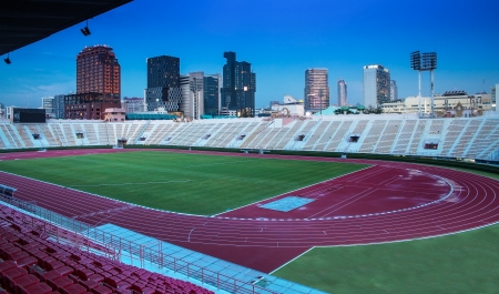 The National Stadium of Thailand with modern building, Bangkok