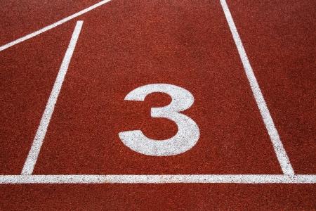 Piste de course avec le num�ro 3 texture
