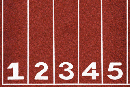 Running track with number 1-5, abstract, texture photo