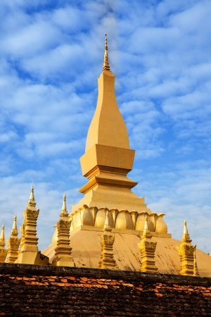 3rd century: Pha That Luang Temple  or Great Stupa in Vientiane, Symbol of Laos  Pha That Luang  Great Stupa  is a gold-covered large Buddhist stupa in Vientiane, Laos  Pha That Luang was built in the 3rd century