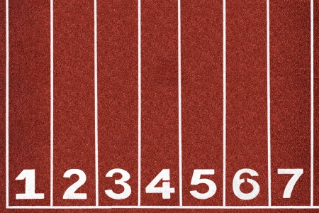 sports venue: Running track with number 1-7, abstract, texture