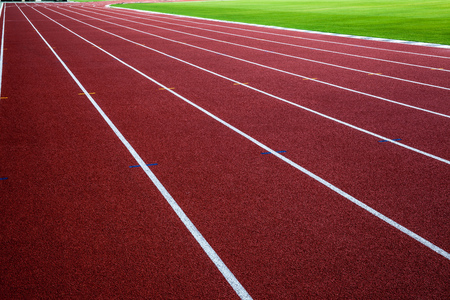 racing track: New running track with green grass, abstract, texture