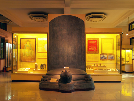 The National Museum of Vietnamese History  Bao Tang Lich Su , Hanoi, Vietnam  This museum is showcasing Vietnam s history with very large displays covering every period  It is housed in a colonial French building  Stock Photo - 24376267