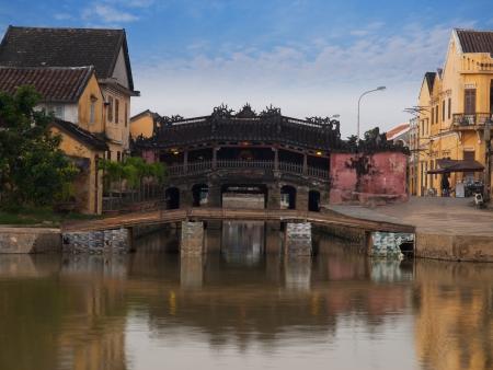 Hoi An Ancient Town pont couvert japonais, le Vietnam Banque d'images