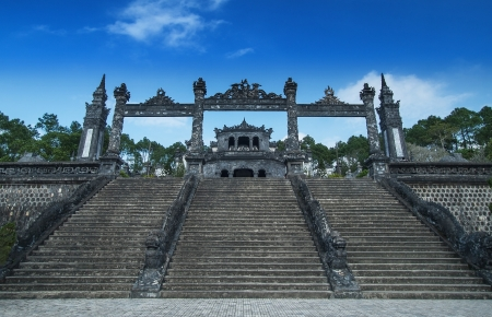Tomb of Khai Dinh, Hue, Vietnam.  Editorial