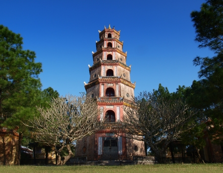 Thien Mu Pagoda, Hue, Vietnam  UNESCO World Heritage Site  Thien Mu Pagoda  Heaven Fairy Lady Pagoda  was built in 1601, this is the tallest pagoda in Vietnam   Editorial