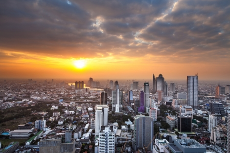 populous: Urban City Skyline, Bangkok, Thailand  Bangkok is the capital city of Thailand and the most populous city in the country
