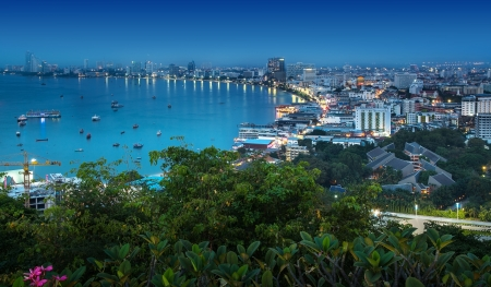 Pattaya is a most popular beach resort with tourists and expatriates  It is located on the east coast of the Gulf of Thailand, southeast of Bangkok in the province of Chonburi  photo