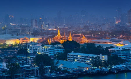emerald city: Urban City Skyline, The Grand Palace   Wat Phra Kaew, Bangkok,Thailand  The Wat Phra Kaew is the most sacred Buddhist temple in Thailand  It is located in the historic centre of Bangkok