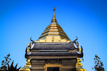 tourist attractions: Buddhist temple, Wat Phra That Doi Suthep, Chiang Mai, Landmark and tourist attractions in Thailand  -Wat Phra That Doi Suthep is Buddhist temple on the mountain and it remains a popular destination for tourists
