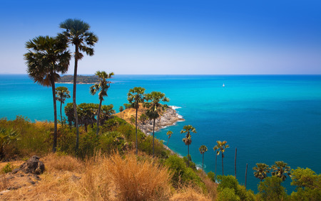 Cape of Phuket Island Promthep Cape , Tourist attraction in Thailand Phuket is an international magnet for beach lovers and serious divers in the Andaman Sea Stock fotó
