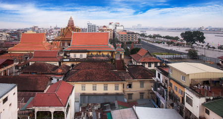 Phnom Penh is the capital and largest city of Cambodia  版權商用圖片