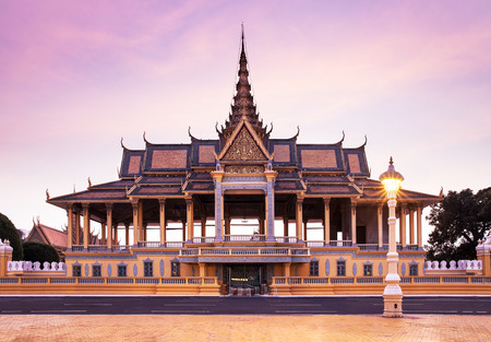 penh: Royal Palace and Silver pagoda  The throne hall , Phnom Penh, No 1 Attractions in Cambodia  - This is the royal residence of the king of Cambodia  Silver pagoda is located on The Royal Palace