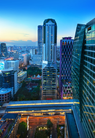 Urban City Skyline, Bangkok, Thailand - Bangkok is the capital city of Thailand and the most populous city in the country  photo