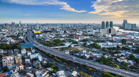 Urban City Skyline, Bangkok, Thailand  -Bangkok is the capital city of Thailand and the most populous city in the country  photo