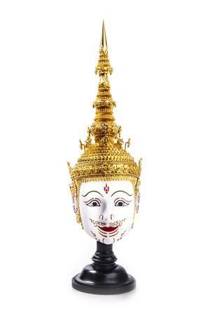 Asia Mask  Tao Totsarot , Khon Mask of Thailand  Khon is a Thai classical dance-drama with Ramayana  Ramakien  Story   photo