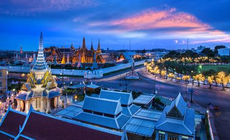 Grand Palace, Wat Phra Kaew and Lak Mueang, Bangkok, landmark of Thailand   photo