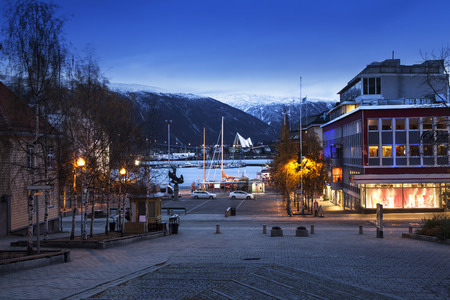 central europe: Tromso cityscape in Northern Norway. - Tromso is a city and the largest urban area in Northern Norway.