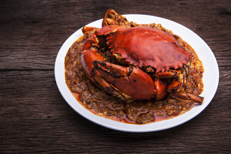 spicy chilli: Chilli crab asia cuisine. Singapore, Thailand Chilli Crab.