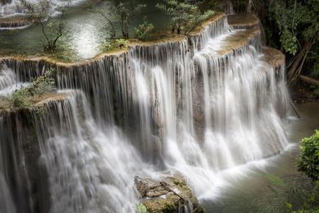 khamin: Huai Mae Khamin Waterfall, Kanchanaburi, Thailand Stock Photo