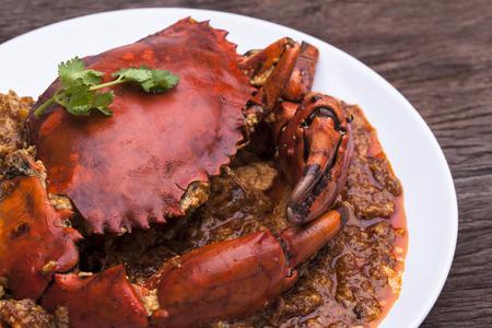 Chilli crab asia cuisine. Singapore, Thailand Chilli Crab.